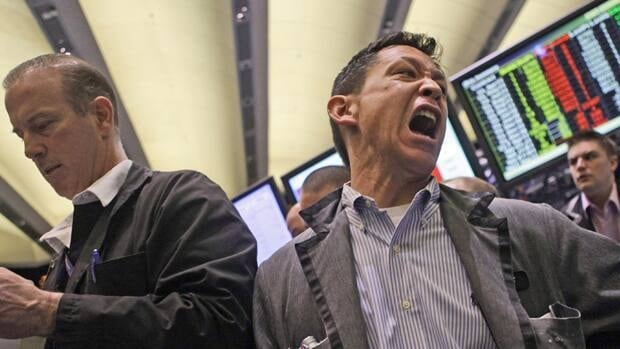 Traders work the crude oil options pit at the New York Mercantile Exchange could take their pick of gloomy economic news during the sell-off on Thursday.