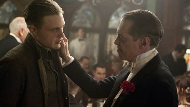 Michael Pitt, left, and Steve Buscemi are shown in a scene from Boardwalk Empire. It has won seven Creative Emmys.