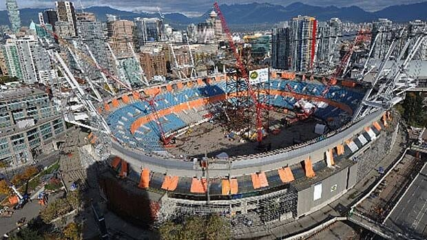 The new BC Place roof will be installed by the fall of 2011.