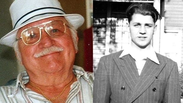 Frank Alexander died Monday night in hospital. The photo on the right is Alexander as a young man.