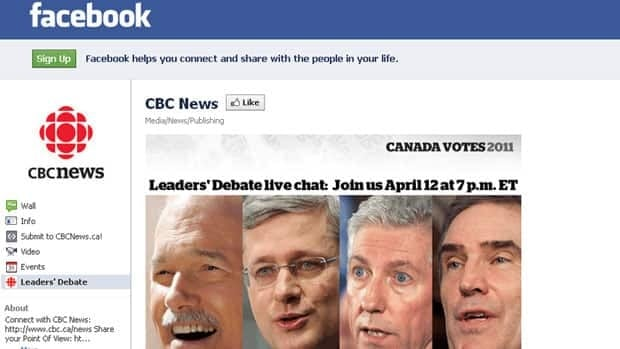 The Tuesday English-language leaders debate will be live on Facebook, CBCNews.ca and through CBC apps for the iPhone, iPad and iPod touch. Televised coverage begins at 7 p.m. ET on CBC Television and CBC News Network.