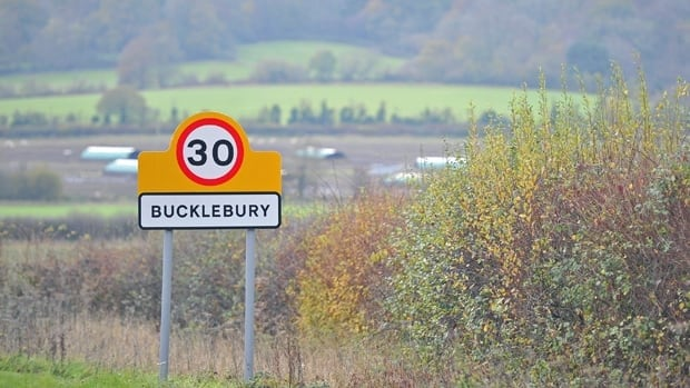 The village of Bucklebury in southern England where Kate Middleton grew up has become a popular tourist destination in the run-up to the royal wedding on April 29.