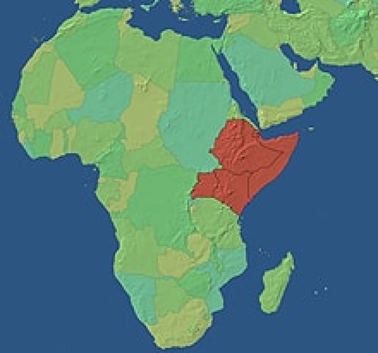 Horn of africa famine as much about geopolitics as drought cbc news the horn of africa region highlighted above is the poorest part of the african continent it includes the countries of djibouti ethiopia eritrea kenya gumiabroncs Choice Image