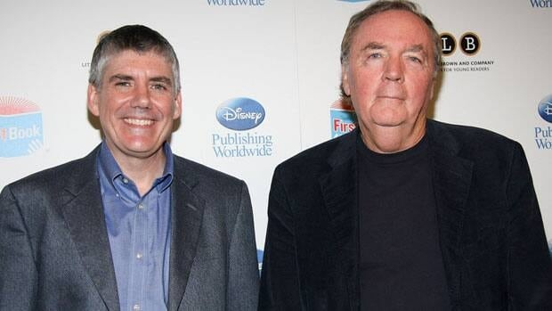 Authors Rick Riordan, left, and James Patterson, shown May 25 in New York, are among the world's top-paid authors.