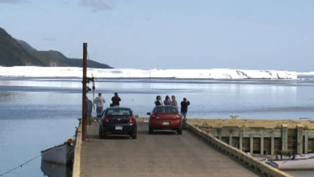 Ice islands moved into White Bay in early September.