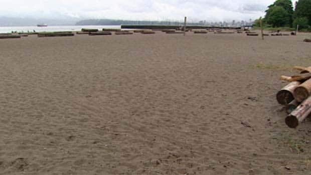 This beach on the West Side of Vancouver would be full of sun-worshippers in mid-July most years.