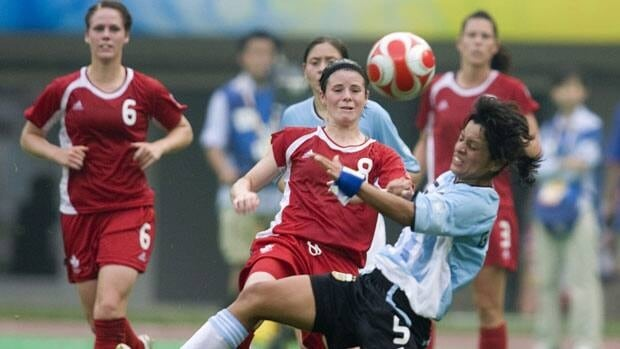 Canadian midfielder Diana Matheson, centre, has been used in a more attacking role since coach Carolina Morace took over.