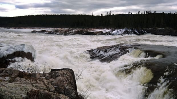 The site of the proposed Lower Churchill Hydro Project on Muskrat Falls in central Labrador. Newfoundland plans on building a long transmission line through Nova Scotia to bypass Quebec, a result of rocky energy relations between the two provinces.