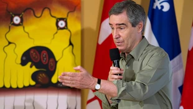 Liberal Leader Michael Ignatieff responds to a question during a townhall discussion at a Native Friendship Centre on Friday in Val d'Or, Que.