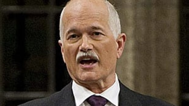 NDP Leader Jack Layton rises during Question Period in the House of Commons Jan. 31, 2011.