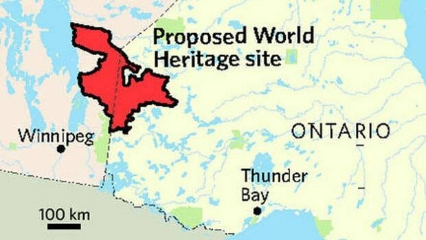 The proposed UNESCO World Heritage site contains 40,000 square kilometres of vast boreal forest, rivers, lakes and wetlands spread across the Canadian shield.