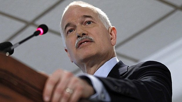 New Democratic Party Leader Jack Layton delivers a speech in Ottawa on Jan. 26.