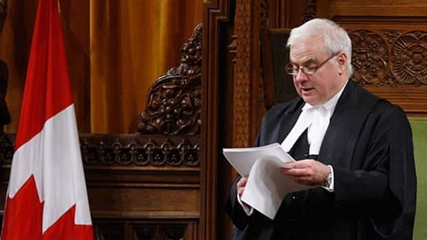 Commons Speaker Peter Milliken, seen ruling on a point of privilege in February, has been considering two Liberal points of privilege.