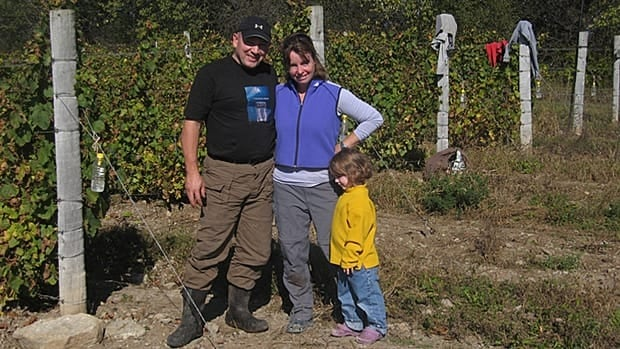 After purchasing land in Ontario's Prince Edward County in 2000, Robert and Sally Peck (pictured with daughter Seren) opened Sugarbush Winery in 2007.