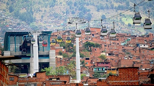 Three gondola transit lines have been built in Medellin, Colombia. (Steven Dale/gondolaproject.com)