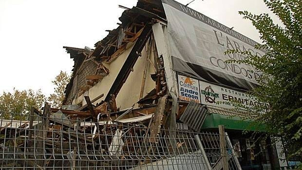 This Queen Mary Road building near the Snowdon Metro station was destroyed this week to make way for condos.