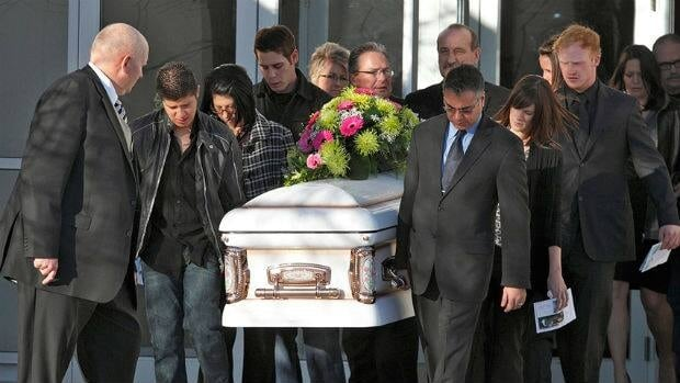 A funeral for Tabitha Stepple was held at the Evangelical Free Church in Lethbridge, Alta., Wednesday.