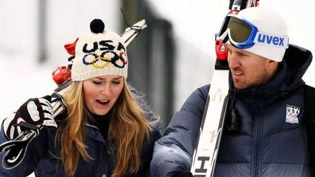 Lindsey Vonn (nee Kildow), left, and Thomas Vonn were married in September 2007.