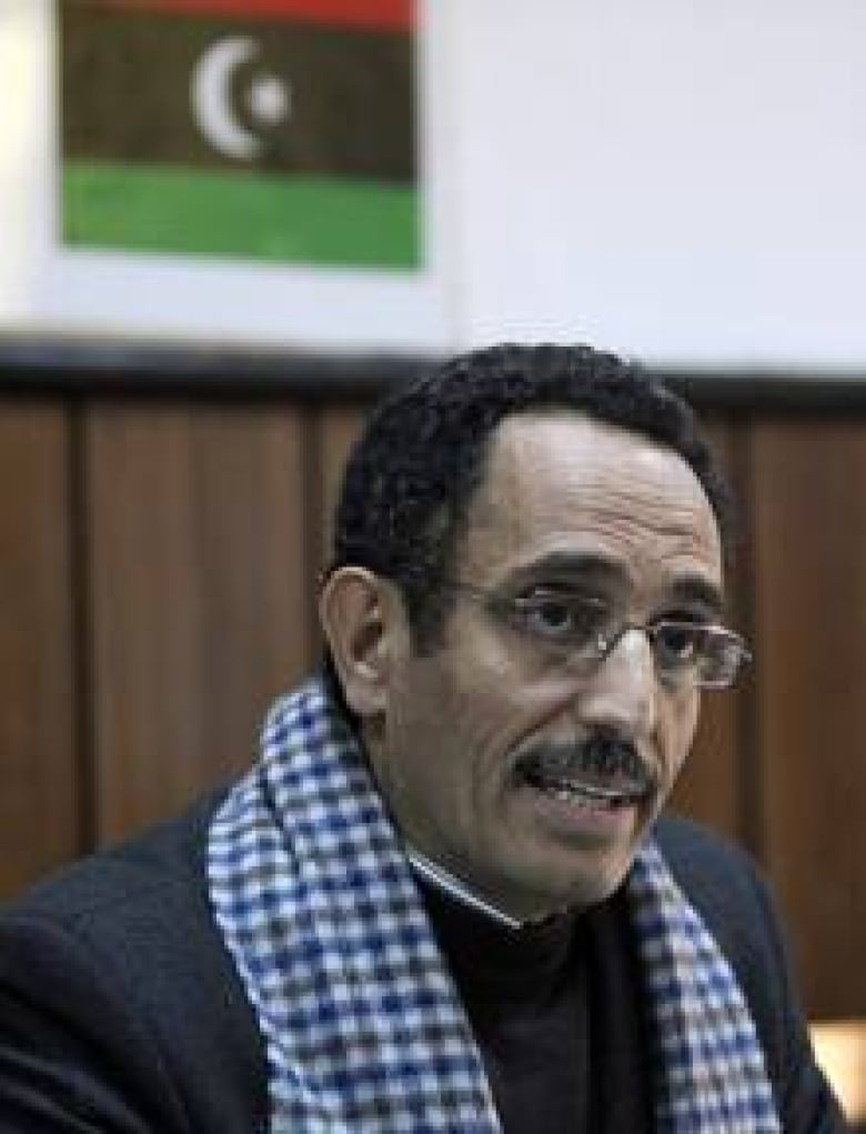 Abdel Hafidh Ghoga The Spokesman For A Newly Created Group Calling Itself National Council That Claims To Represent Liberated Areas Of Libya