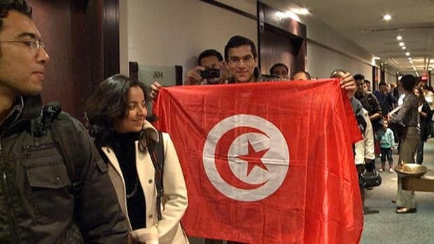 Thousands of people lined up in Montreal and Ottawa to cast their vote in Tunisia's first free, multi-party election since the country gained independance.