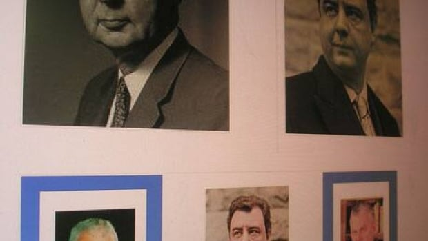 Pictures of John George Diefenbaker and John George Dryden are displayed on a website about the controversy.