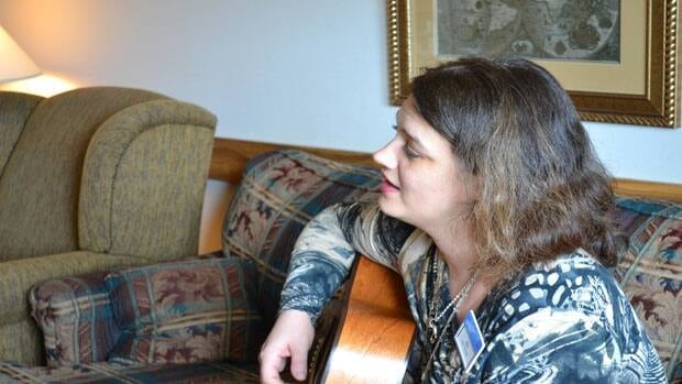 Jill Kenndy-Tufts, music therapist at Parkwood Hospital in London, Ont. helps palliative care patients make legacy projects with music and the written word.