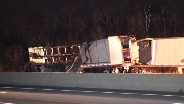 A 38-year-old Brampton man was killed in an early morning crash on Highway 401.