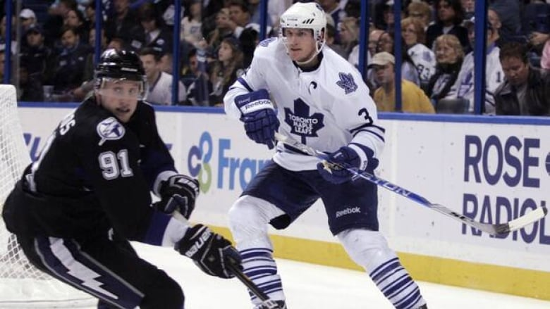 78bc19f5304 Dion Phaneuf (3) and the Maple Leafs take on Steven Stamkos (91) and the  Lightning at the St. Pete Times Forum on Tuesday. (Justin K. Aller Getty  Images)