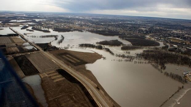 The Assiniboine River spilled its banks and spread across a wide area earlier this spring and it might happen again.