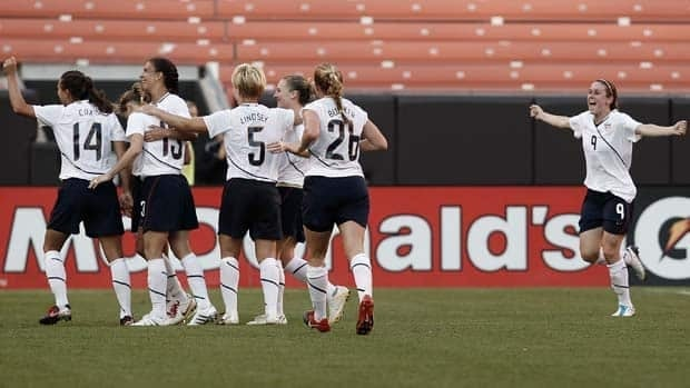 American midfielder Heather O'Reilly, far right, believes the U.S.'s loss to Mexico last November served as a wake-up call.