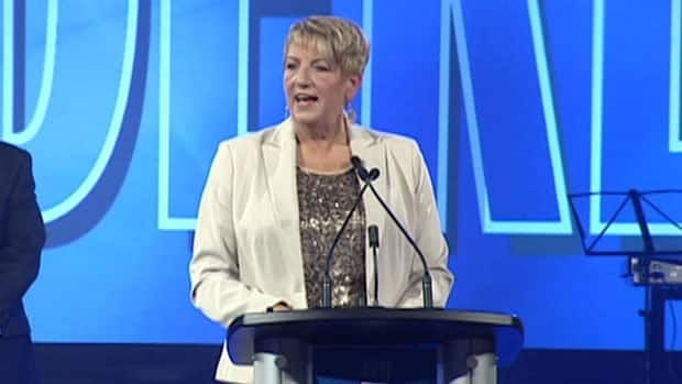 Kathy Dunderdale was formally sworn in as Progressive Conservative leader on Saturday.