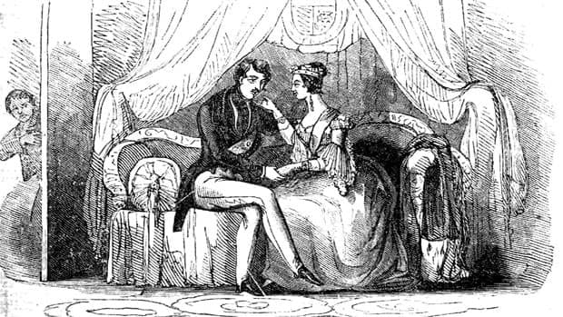 A 19th-century illustration of Queen Victoria and Prince Albert. Upon Albert's death in 1861, Victoria went into a deep depression.