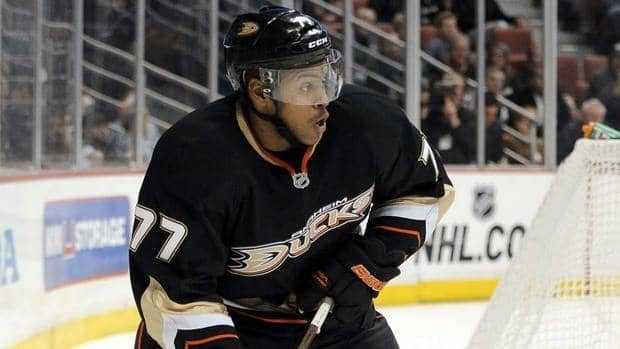 Devante Smith-Pelly has three goals and two assists in 26 games with Anaheim this season.