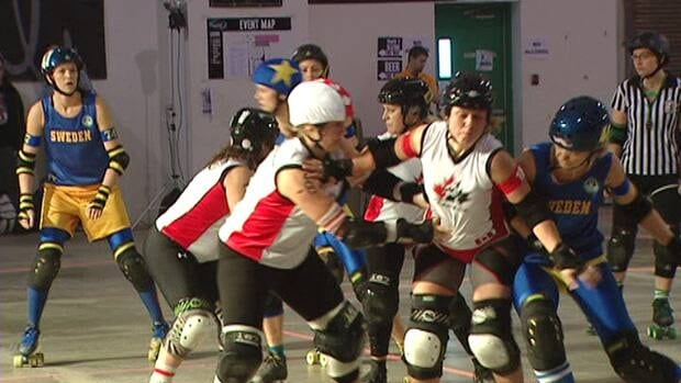 Canada defeated Sweden 196-26 on Friday, the second day of the inaugural roller derby world cup, which is taking place in Toronto.