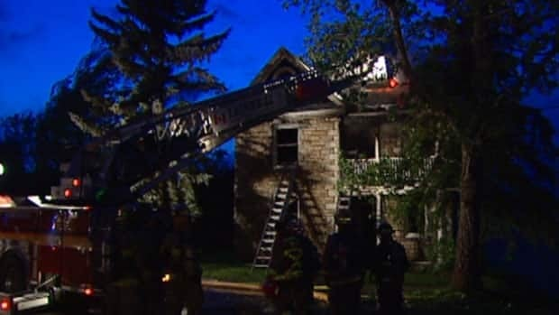 Twelve fire trucks and 45 firefighters needed just over two hours to put out a blaze at a farmhouse on Robertson Road.