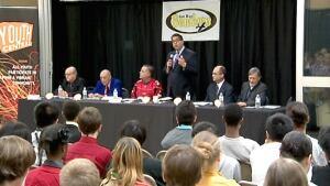 Junior high school mayor forum