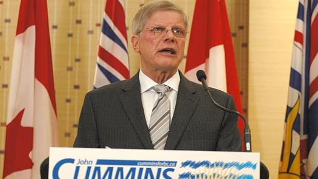 Former federal Conservative MP John Cummins confirmed he is running for the leadership of the B.C. Conservative Party with a speech on Tuesday.