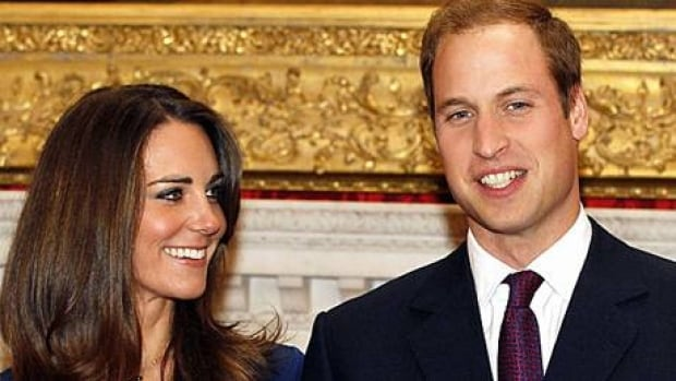 Prince William and his fiancée, Kate Middleton, pose for the media at St. James's Palace in London on Nov. 16, 2010, after they announced their engagement.