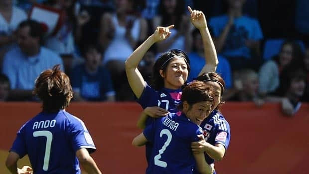 Yuki Nagasato of Japan celebrates scoring against New Zealand on Monday at the Women's World CUp in Germany.