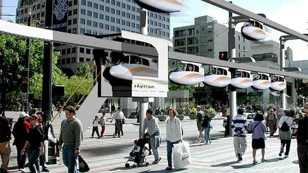 A Kelowna resident says the city should consider installing a new monorail system under development by SkyTran that uses magnetic levitation to move two-person pods.