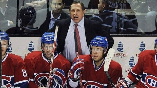 Montreal Canadiens head coach Jacques Martin watches the play as the final seconds tick down on what would be his last game as the Habs coach on Thursday.