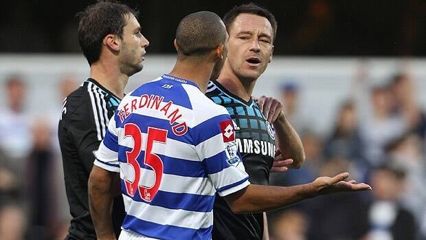 John Terry, right, denies racially abusing Anton Ferdinand.