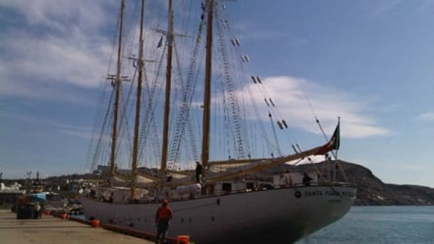The Santa Maria Manuela, one of two remaining tall ships from the famed Portuguese White fleet, returned to St. John's on Thursday.