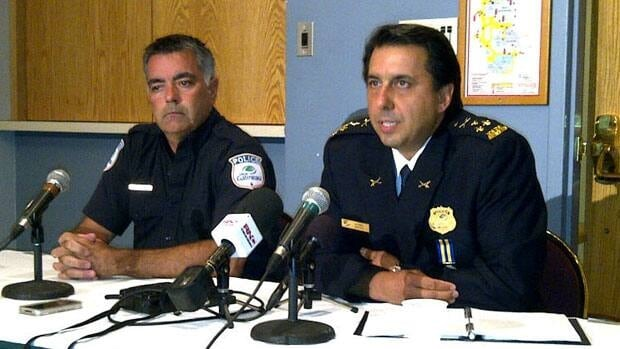 Gatineau police chief Mario Harel, right, said his officers are looking at all leads in the investigation into the homicide of Valerie Leblanc.