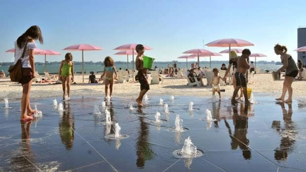 Canada's Sugar Beach, a project overseen by Waterfront Toronto, was opened in Aug. 2010. (Waterfront Toronto)
