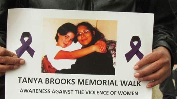 Tanya Brooks was killed two years ago in Halifax. Her family and friends held a memorial Tuesday.