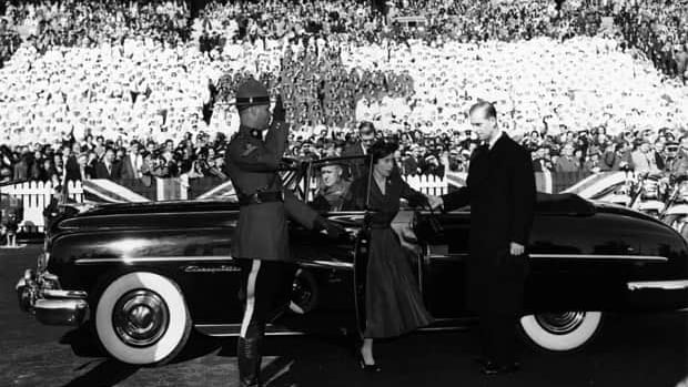 In 1951, Princess Elizabeth made her first royal visit to Canada. The princess and Prince Philip arrive at the Canadian National Exhibition stadium in Toronto on Oct. 13.
