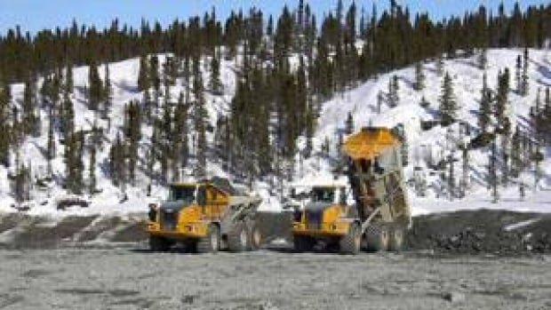 Remediation work done at the old Colomac gold mine by Aboriginal Affairs and Northern Development Canada included capping tailings ponds contaminated with cyanide.