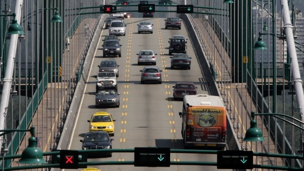 B.C.'s Ministry of Transport warns of delays starting in early April 2016 for construction work on the south tower expansion joint of the Lions Gate Bridge.