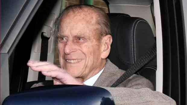 Prince Philip is driven away from Papworth Hospital after undergoing successful surgery to clear a blocked heart artery.
